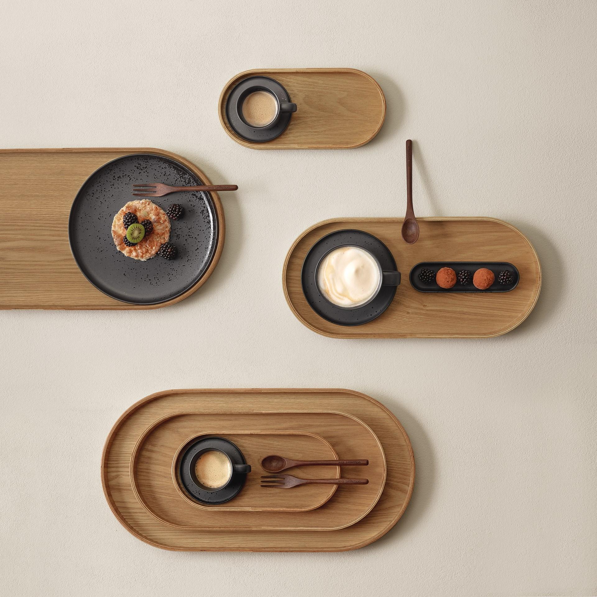 Dřevěný tác SONOKO oválný 44x22,5 cm_1