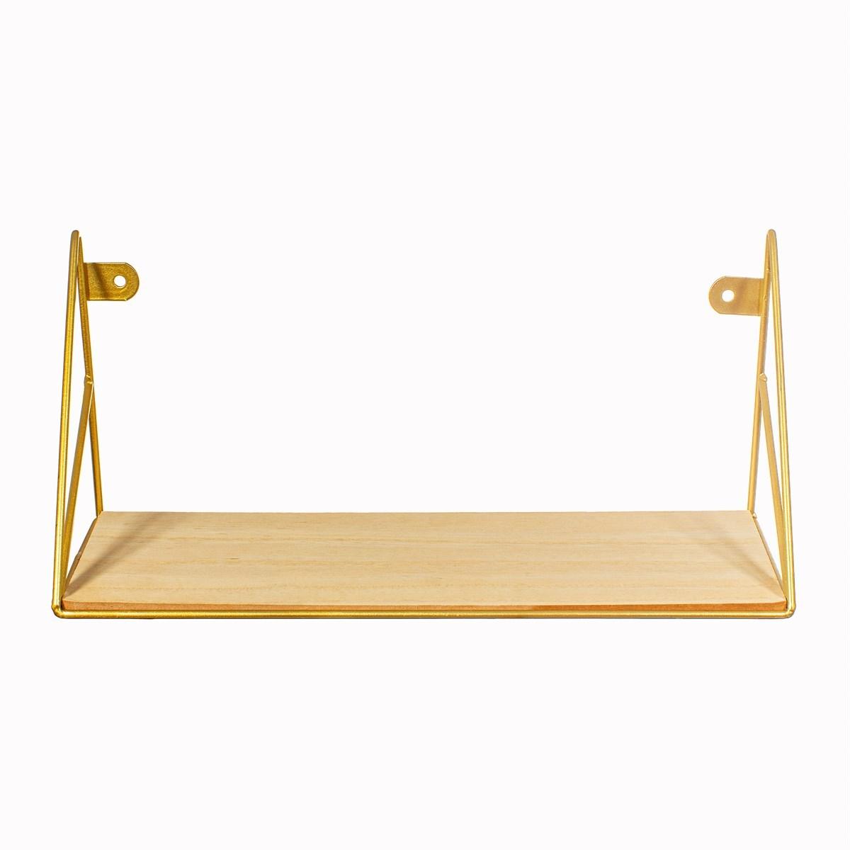 Polička Loft zlatá 35 cm_0