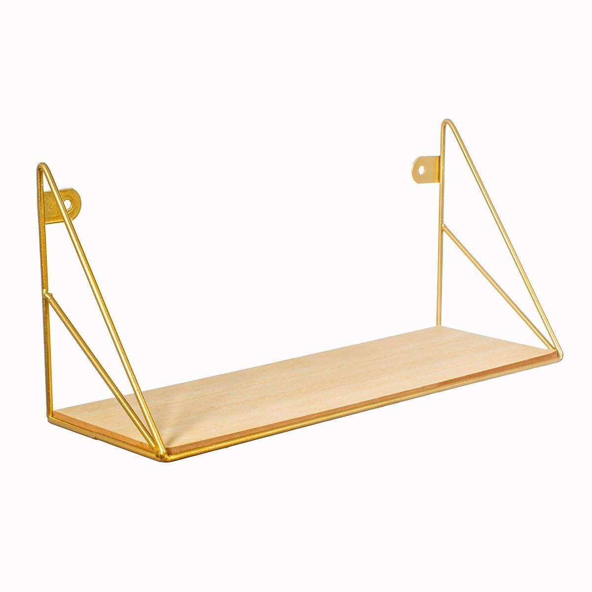 Polička Loft zlatá 35 cm_2