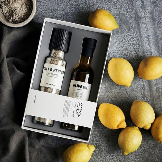 Dárková sada EVERYDAY sůl & pepř, olivový olej Lemon_0