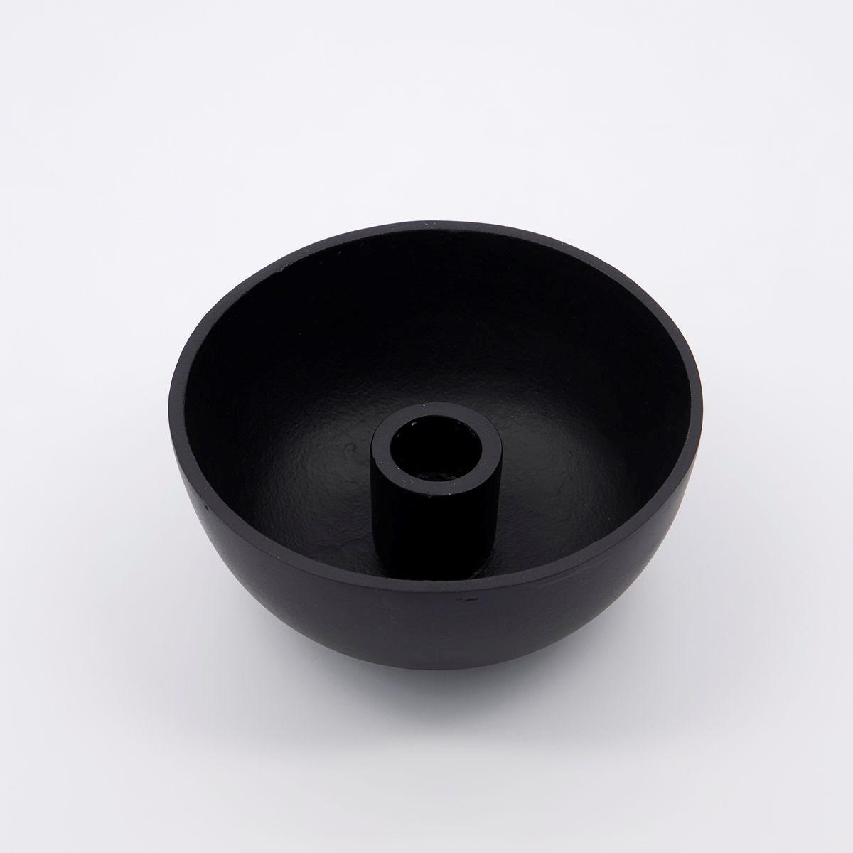 Svícen na dlouhou svíčku CROWN 12,5 cm černý_1