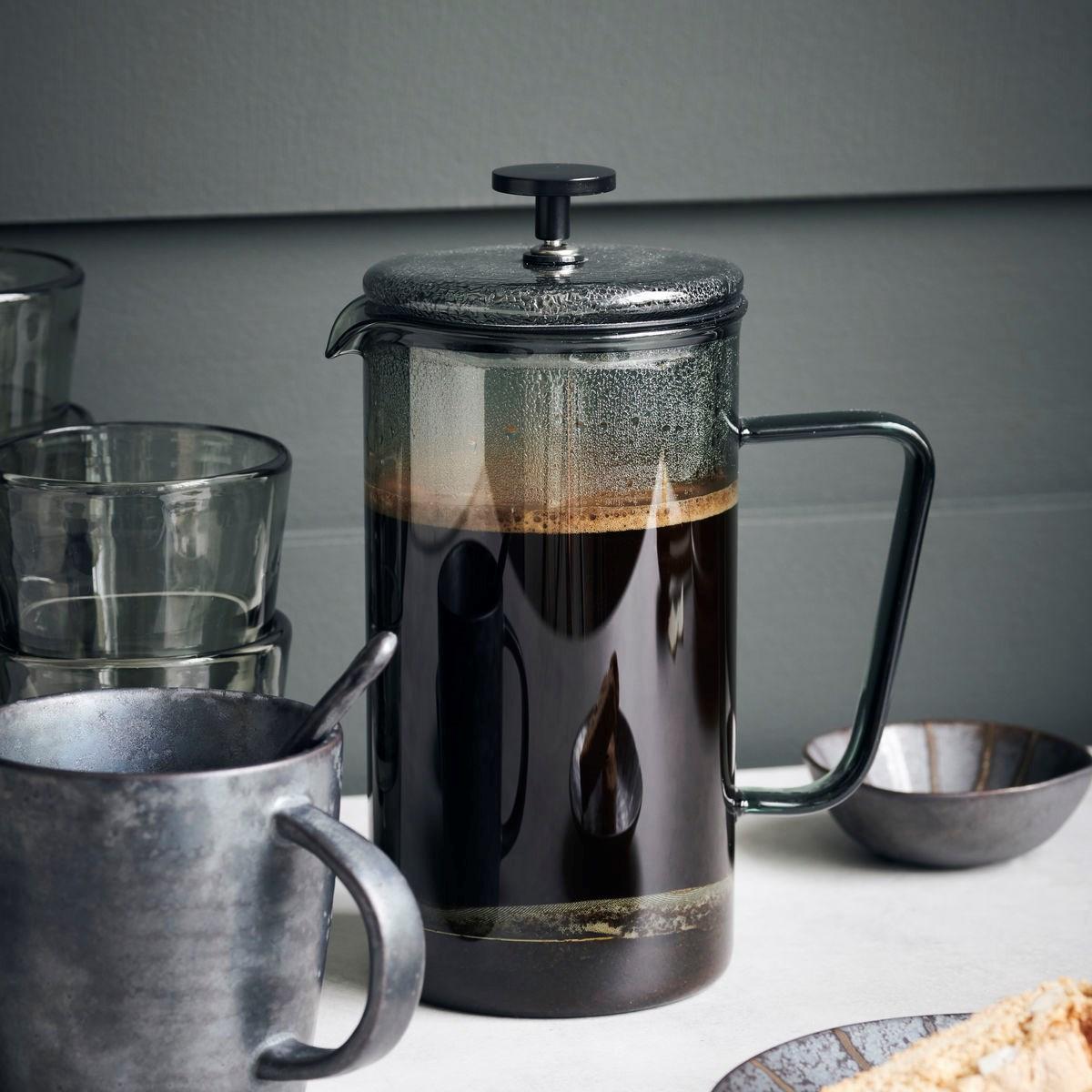Konvice na čaj / kávu French press NURU kouřová 1 l_4