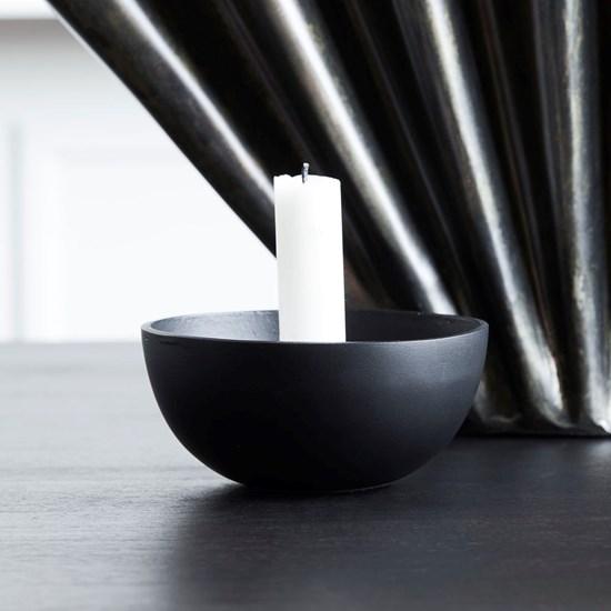 Svícen na dlouhou svíčku CROWN 12,5 cm černý_2
