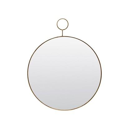 Zrcadlo LOOP kulaté 38 cm mosazné_3