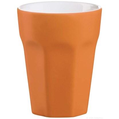 Hrnek na cappuccino - oranžová matná_0