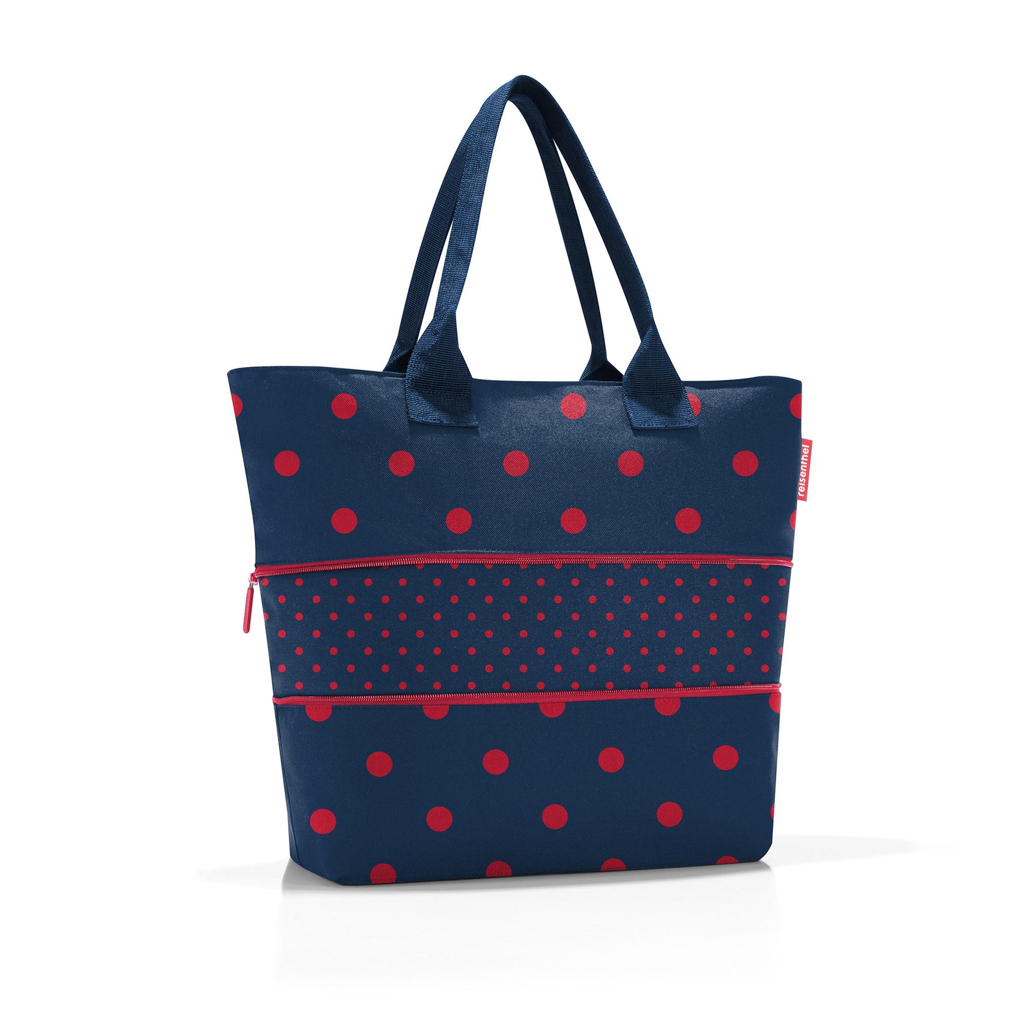 Chytrá taška přes rameno Shopper e1 mixed dots red_1