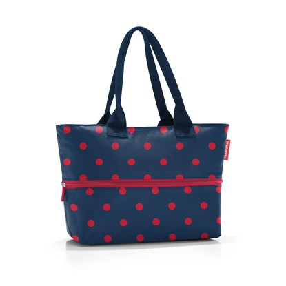 Chytrá taška přes rameno Shopper e1 mixed dots red_2