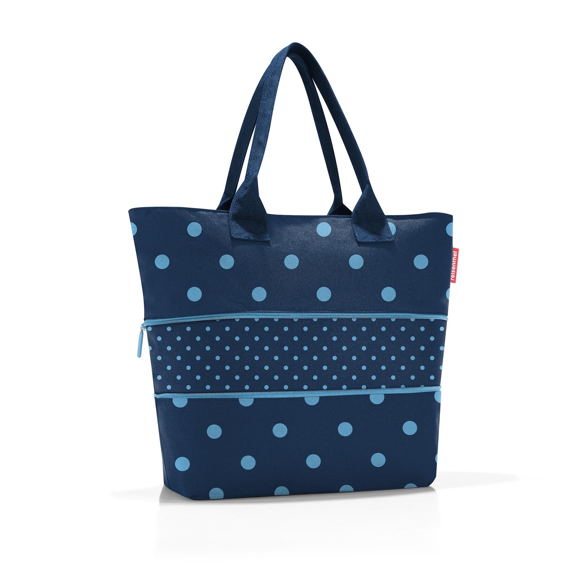 Chytrá taška přes rameno Shopper e1 mixed dots blue_1