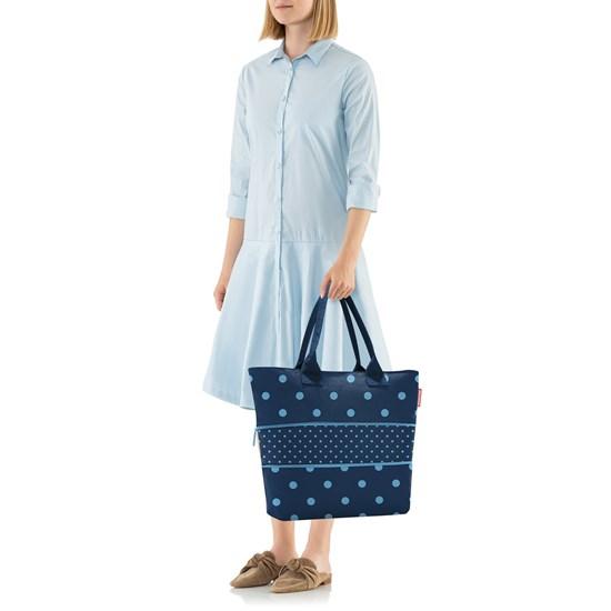 Chytrá taška přes rameno Shopper e1 mixed dots blue_2