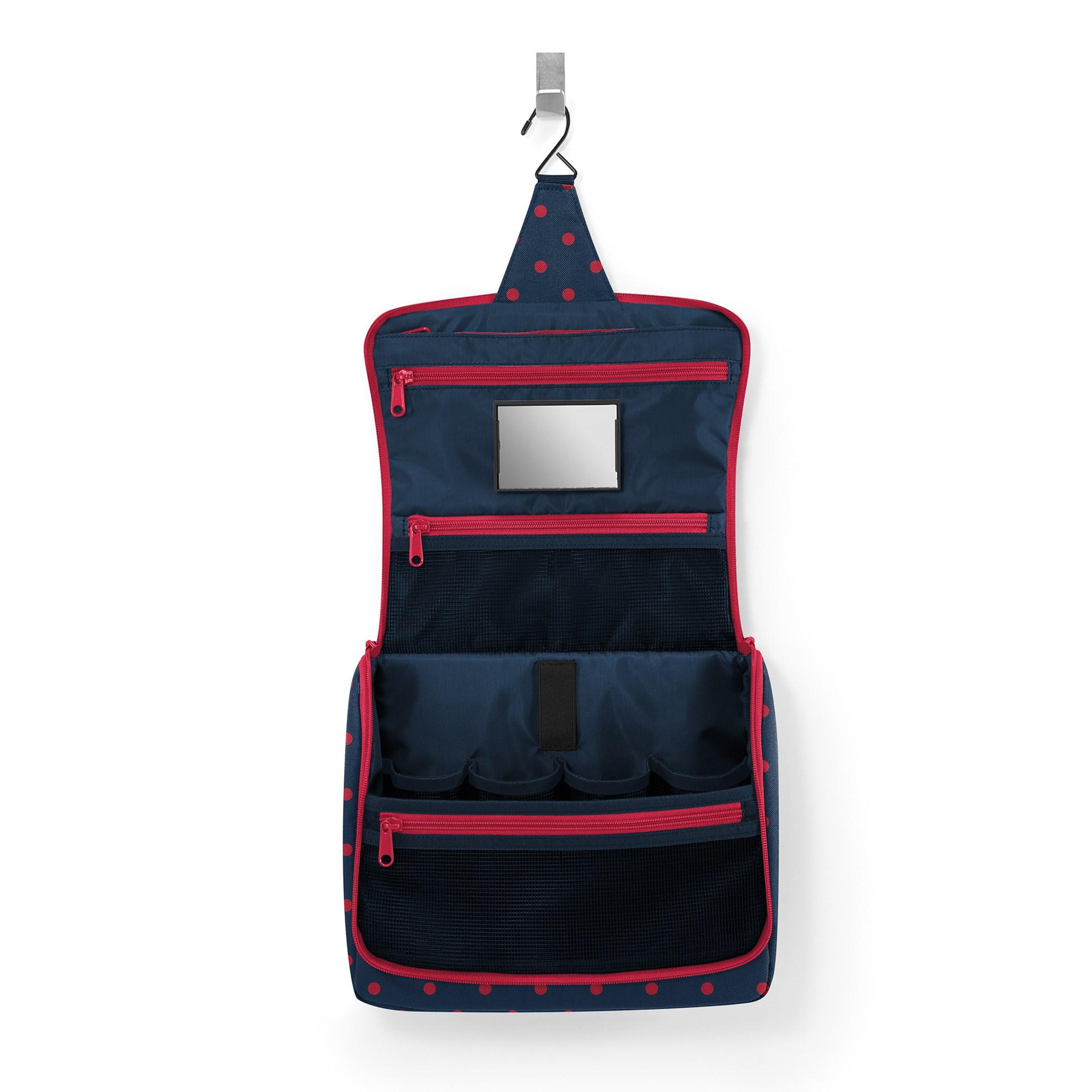 Kosmetická taška Toiletbag XL mixed dots red_0