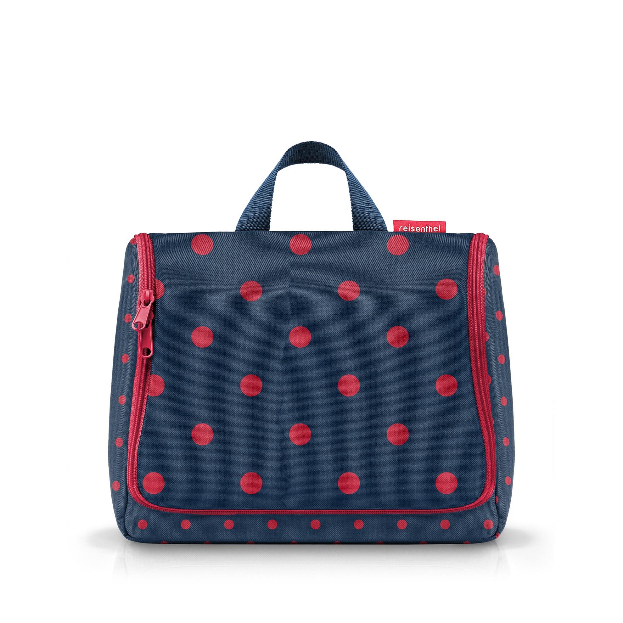 Kosmetická taška Toiletbag XL mixed dots red_1