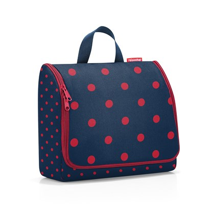 Kosmetická taška Toiletbag XL mixed dots red_2