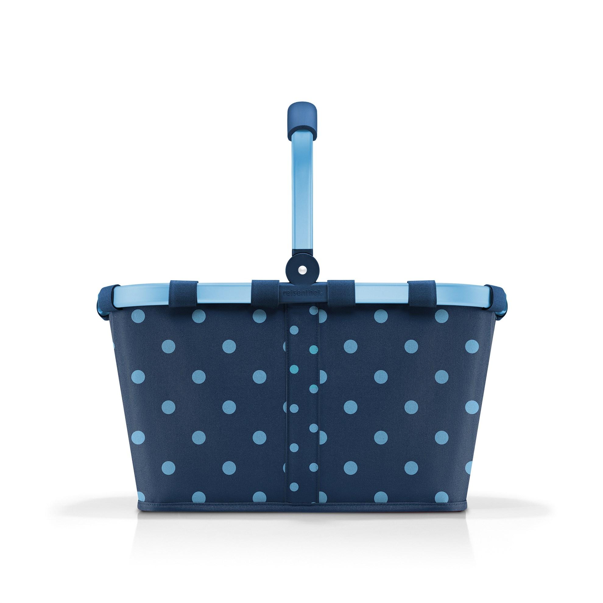 Nákupní košík Carrybag frame mixed dots blue_0