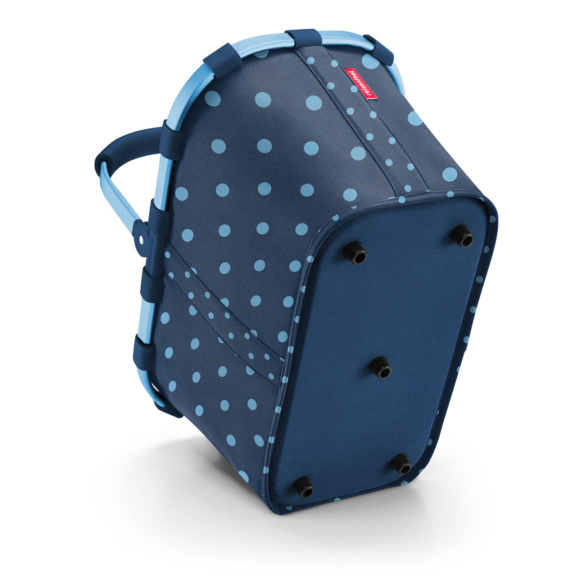 Nákupní košík Carrybag frame mixed dots blue_1