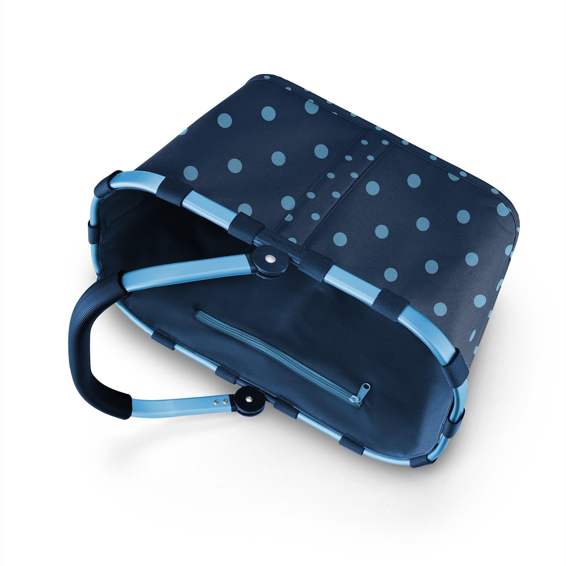 Nákupní košík Carrybag frame mixed dots blue_2