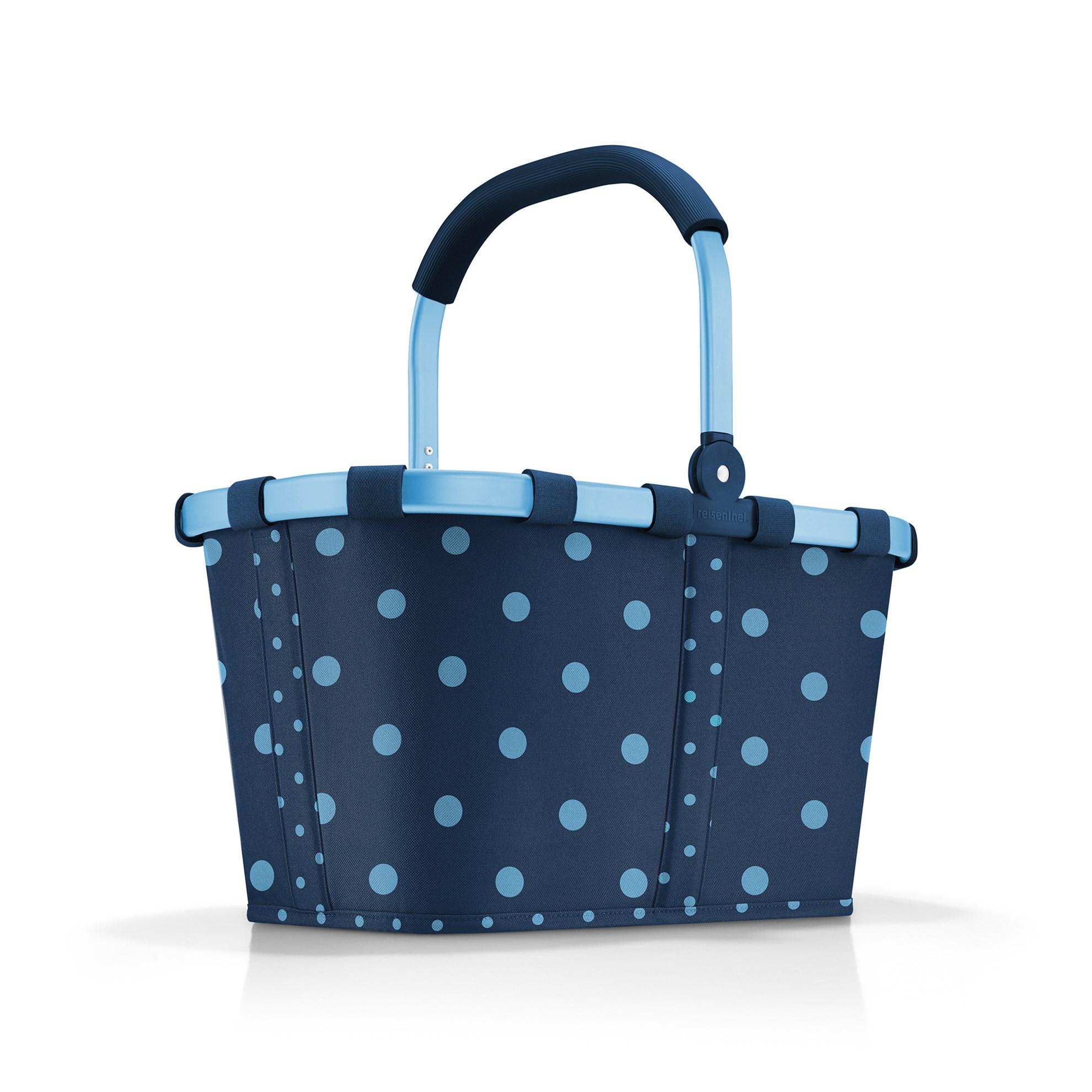 Nákupní košík Carrybag frame mixed dots blue_3