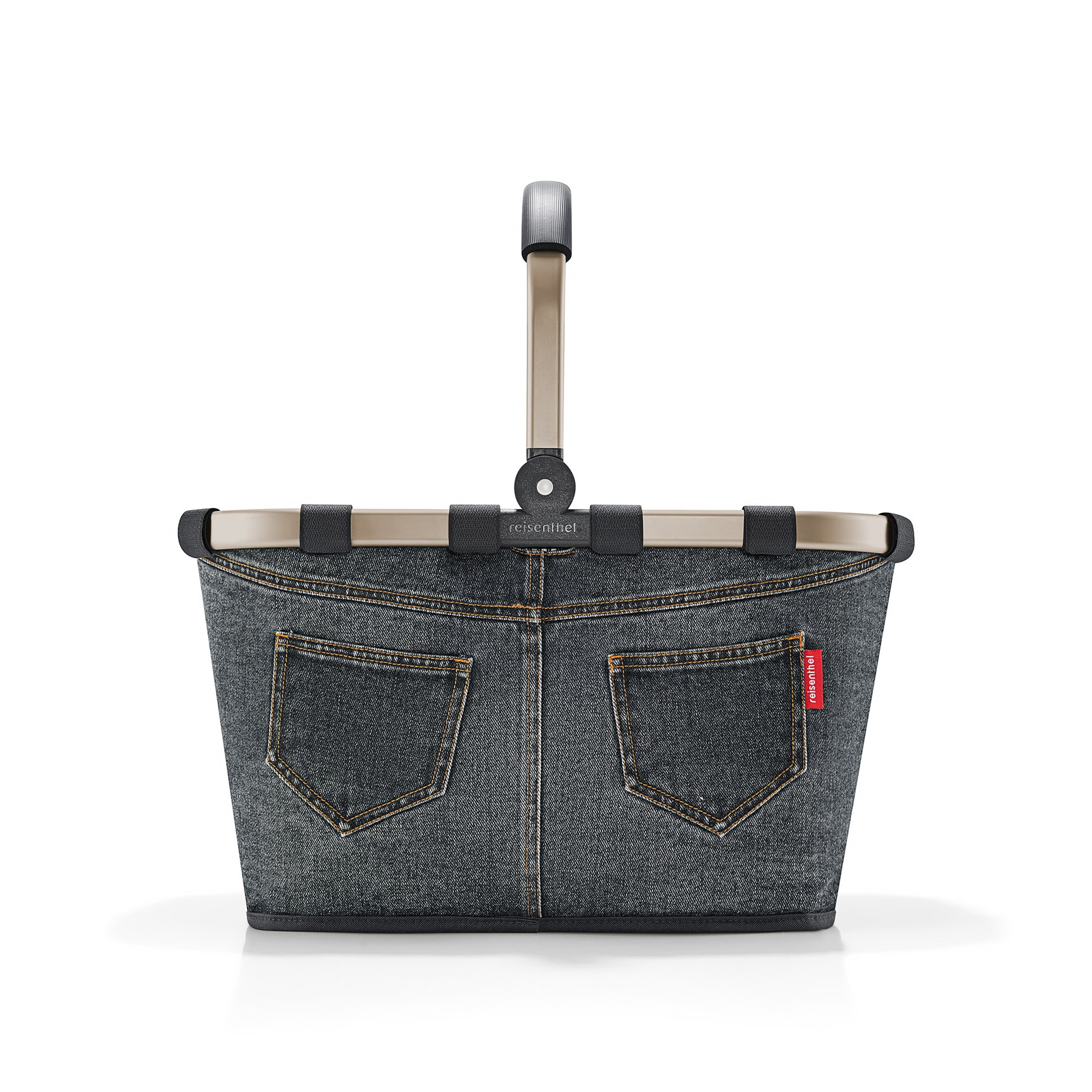 Nákupní košík Carrybag frame jeans dark grey_2