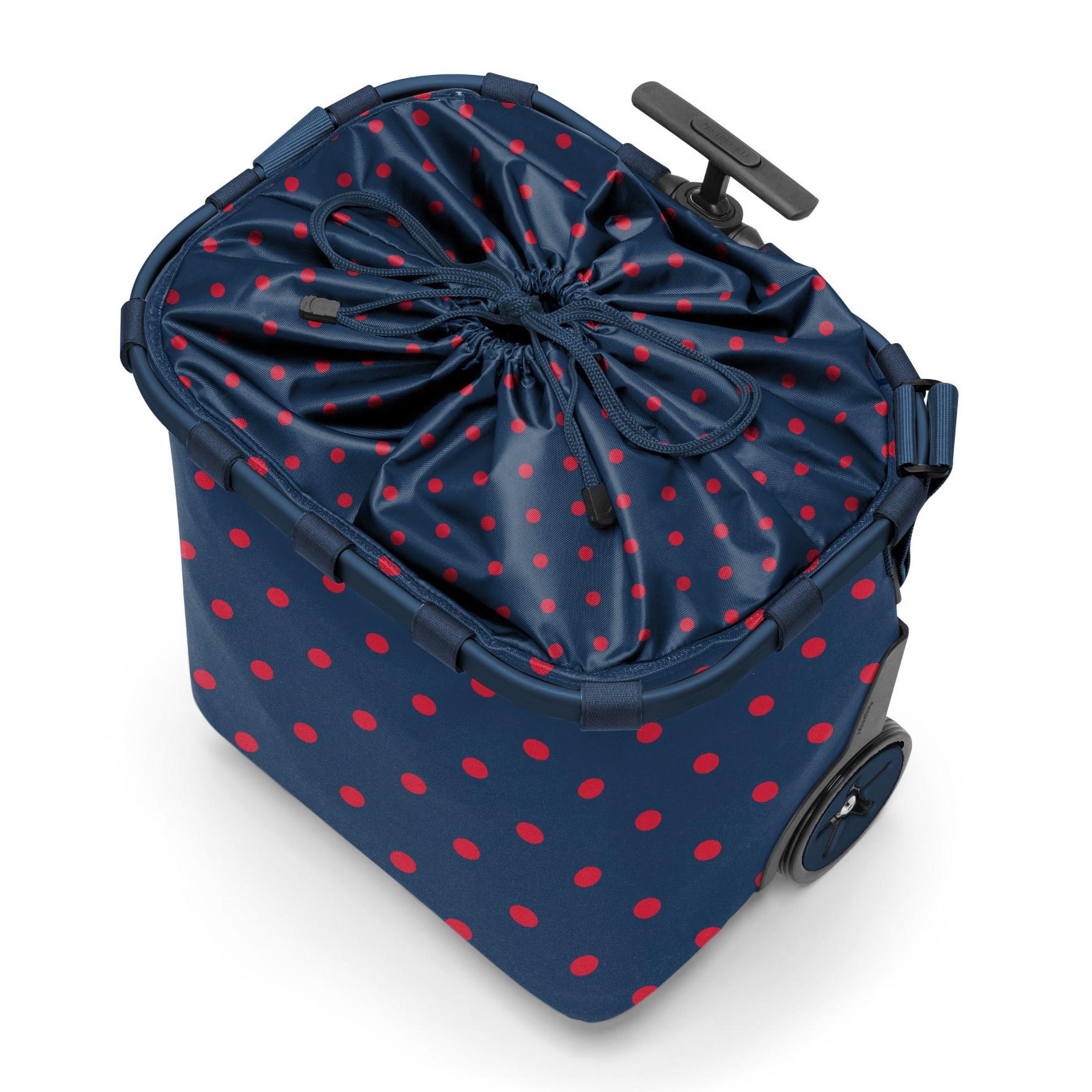Taška na kolečkách Carrycruiser  frame mixed dots red_0