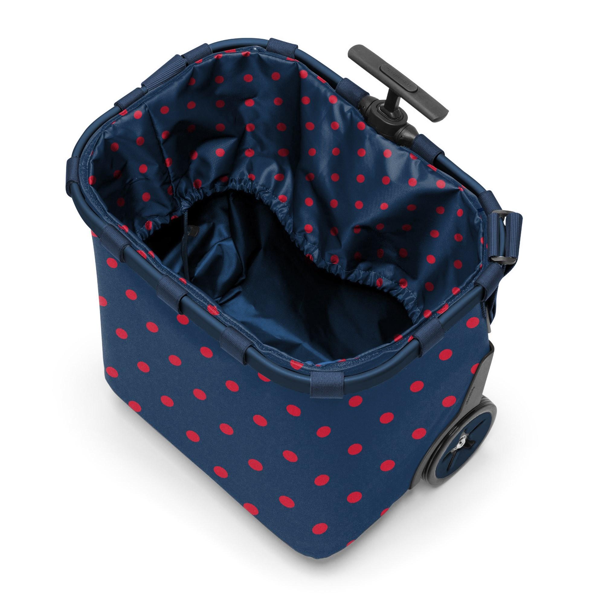 Taška na kolečkách Carrycruiser  frame mixed dots red_1