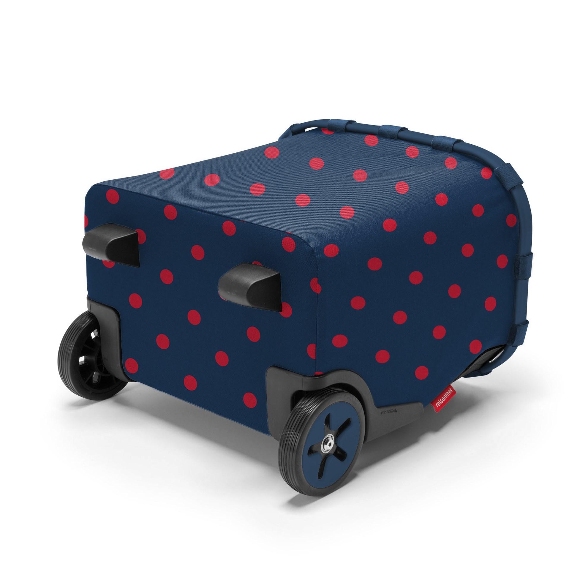 Taška na kolečkách Carrycruiser  frame mixed dots red_2