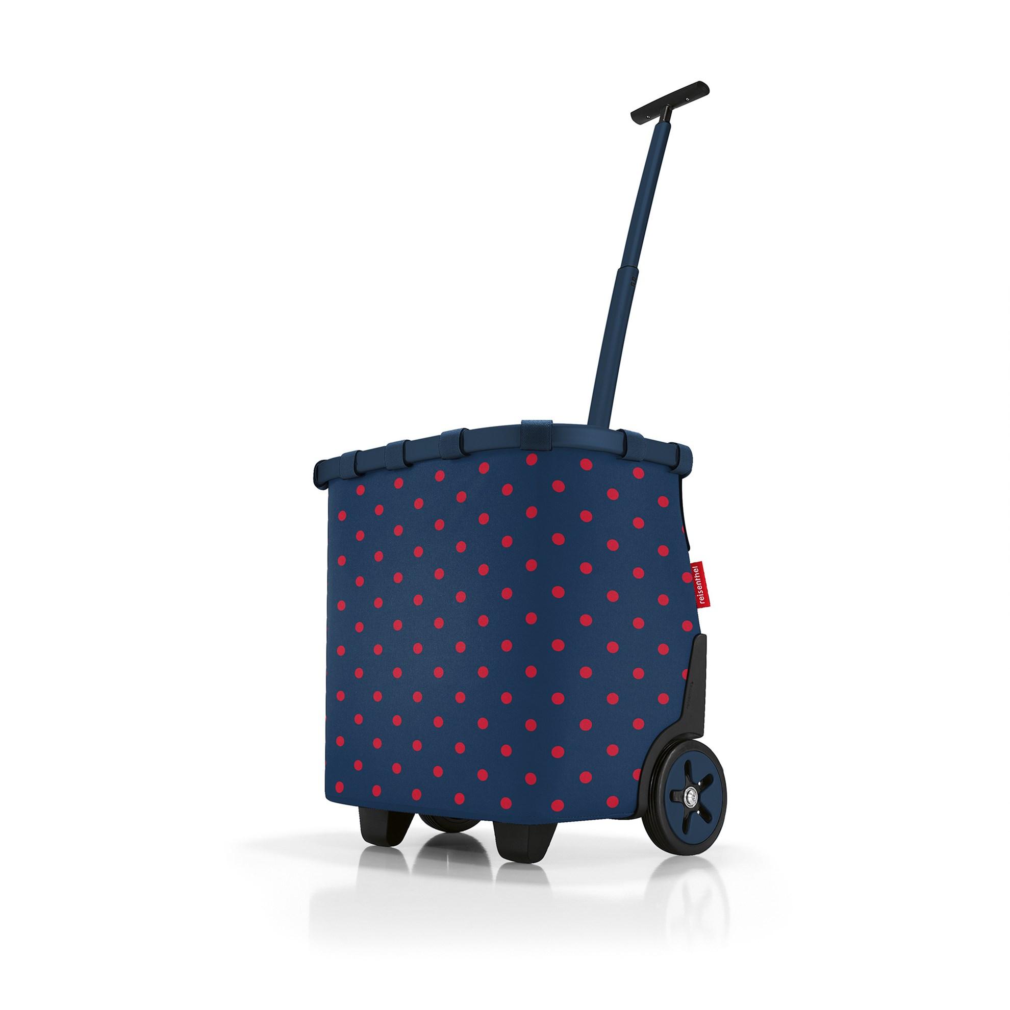Taška na kolečkách Carrycruiser  frame mixed dots red_4