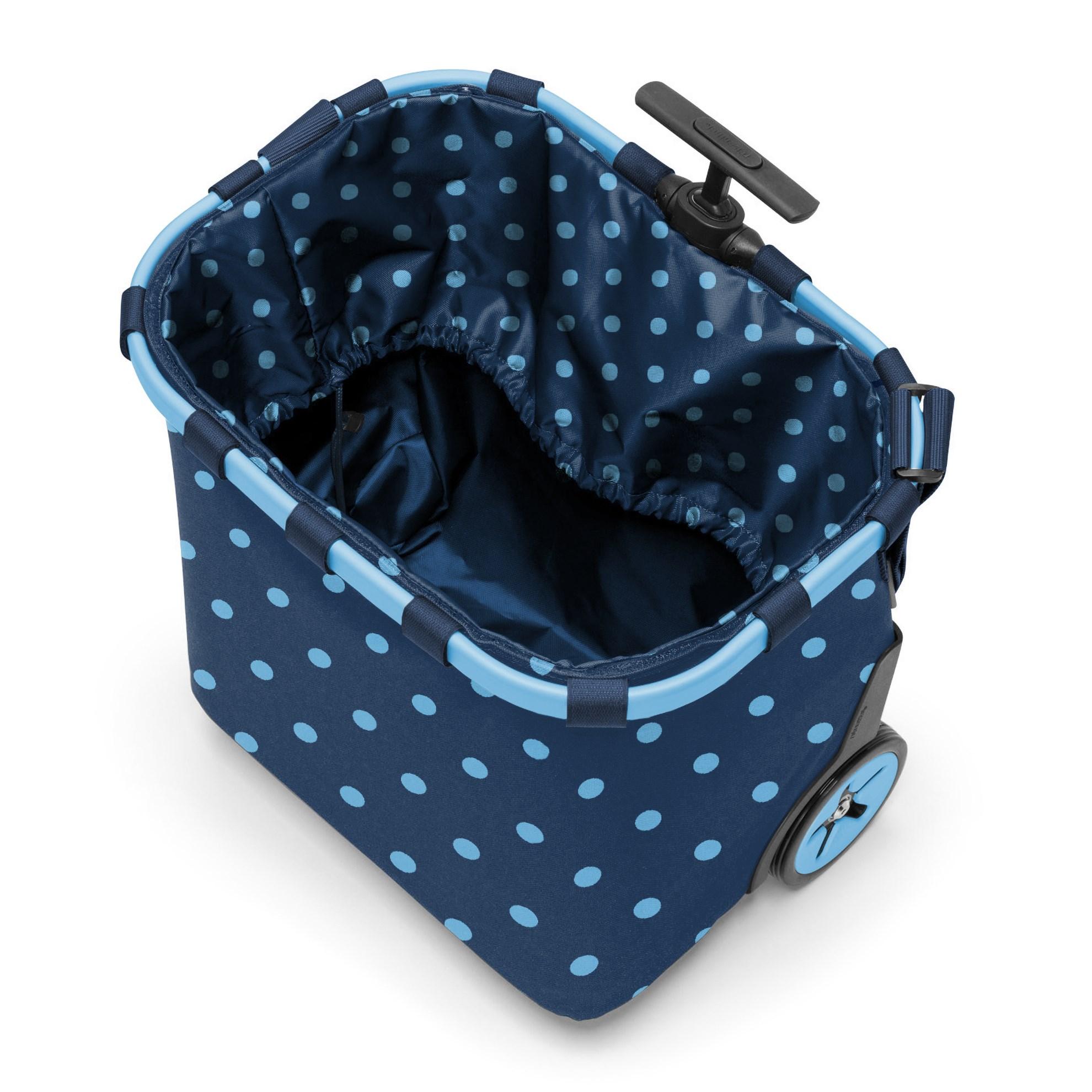 Taška na kolečkach Carrycruiser  frame mixed dots blue_1