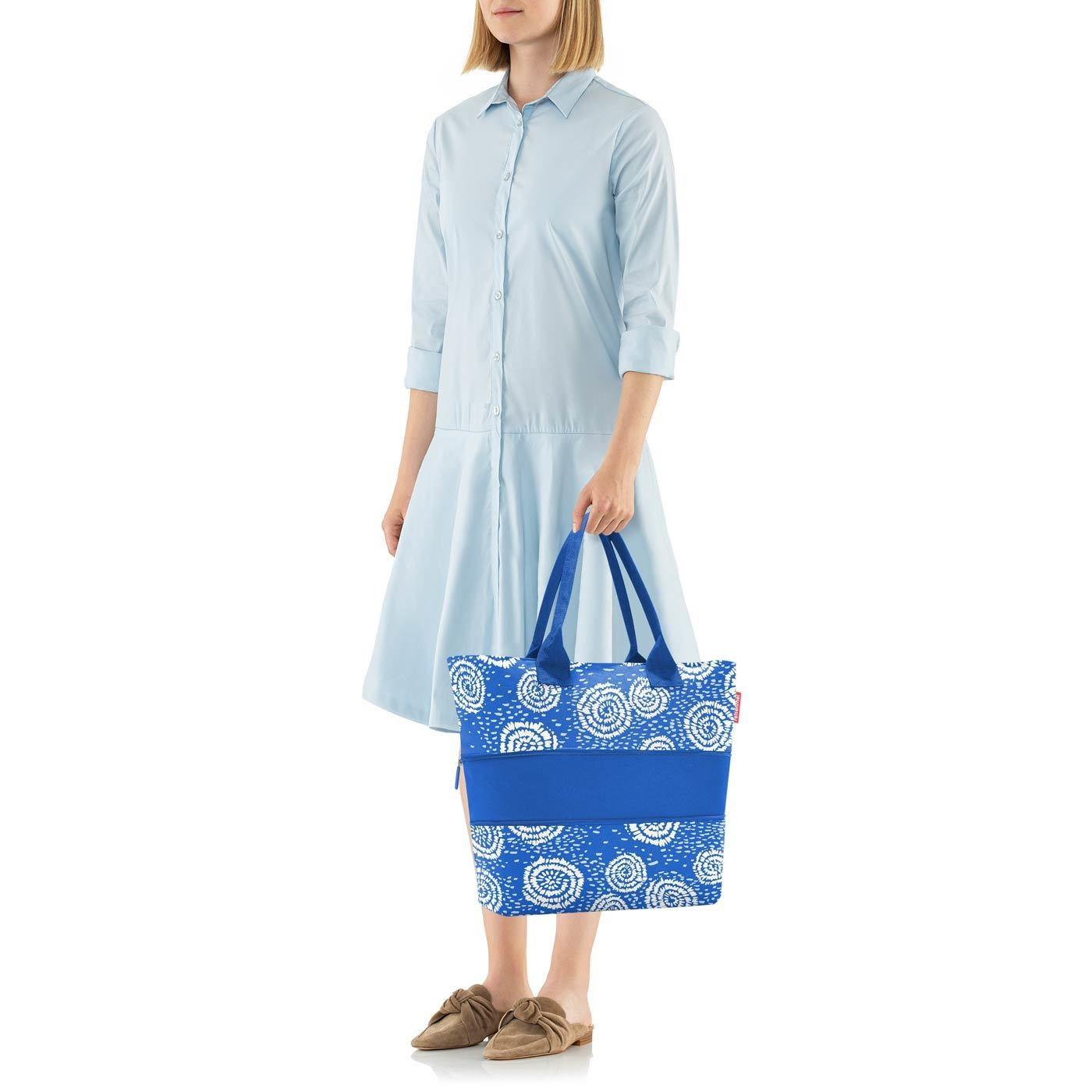 Chytrá taška přes rameno Shopper e1 batik strong blue_1