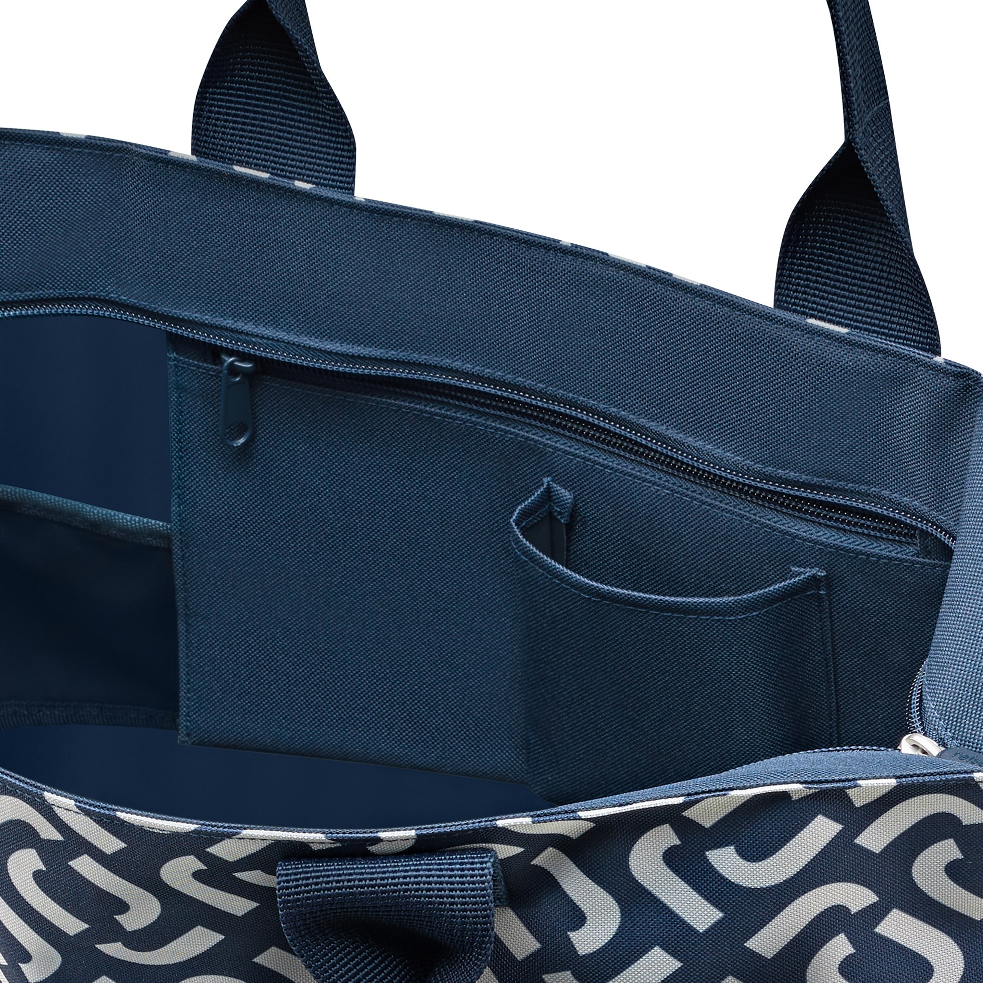 Chytrá taška přes rameno Shopper e1 signature navy_0