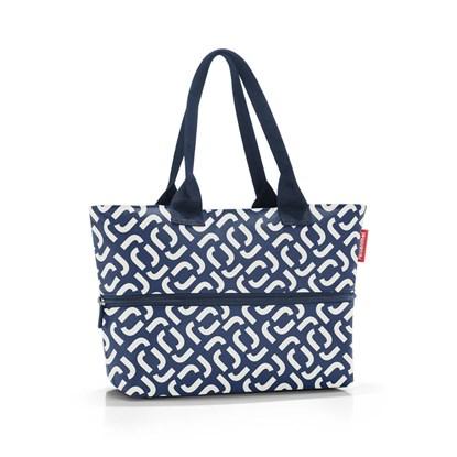 Chytrá taška přes rameno Shopper e1 signature navy_2