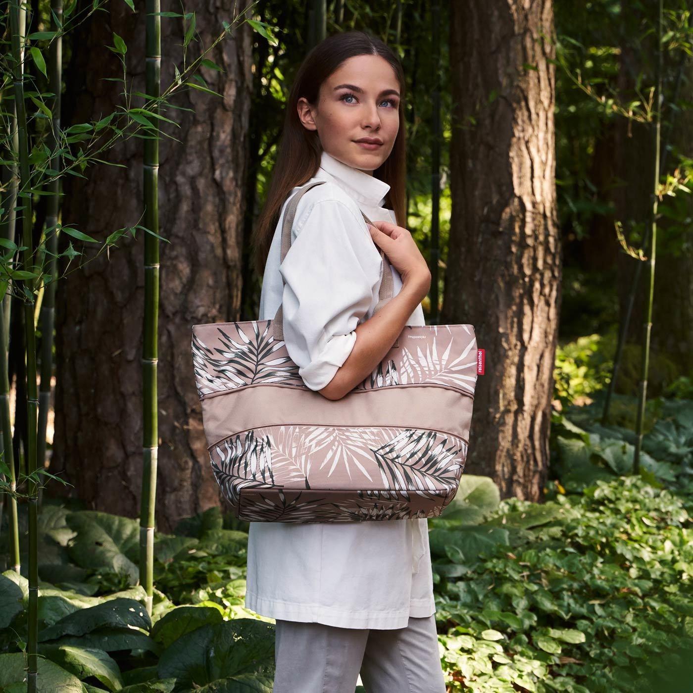 Chytrá taška přes rameno Shopper e1 jungle sand_0