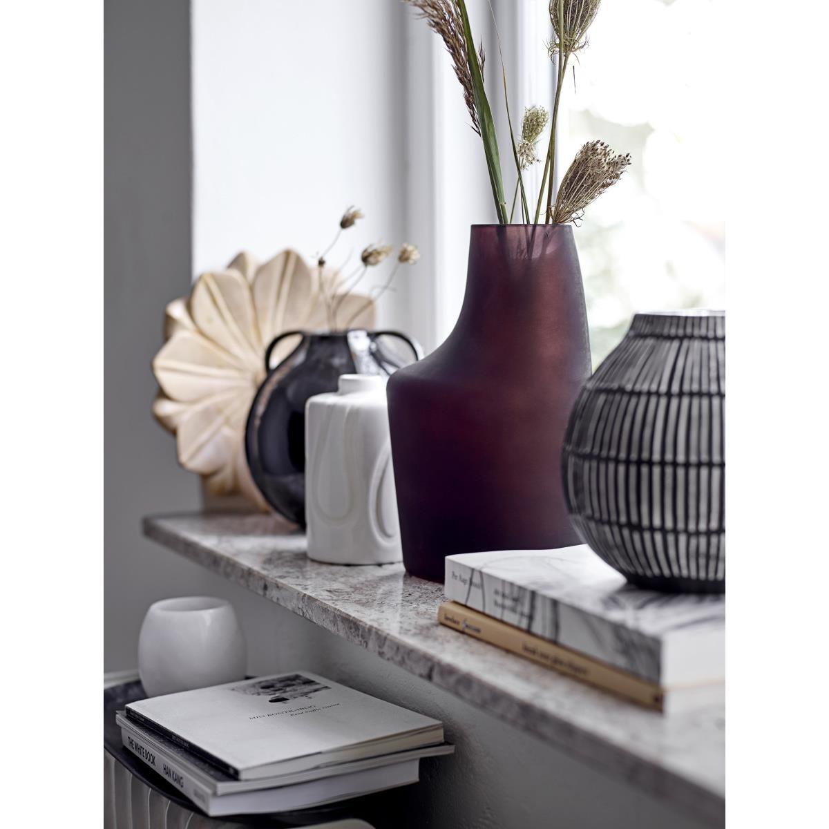 Váza Elveda černá, kameninová_1