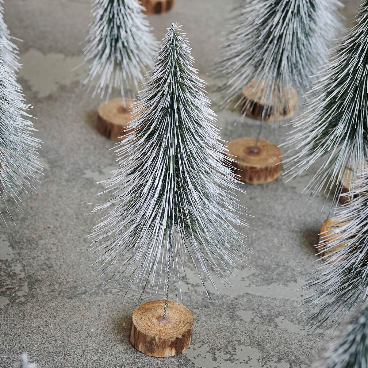 Dekorace vánoční strom SPINKLE 30 cm, zasněžený_1