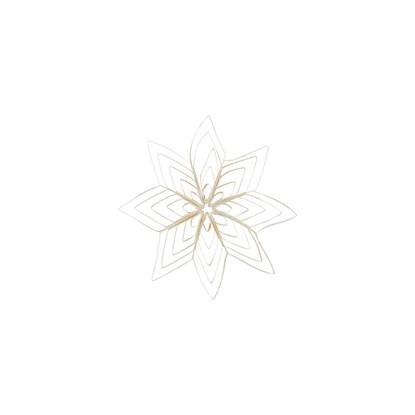 Papírová ozdoba hvězda QUILLING 15 cm bílá_0