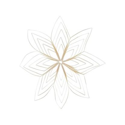 Papírová ozdoba hvězda QUILLING 25 cm bílá_0