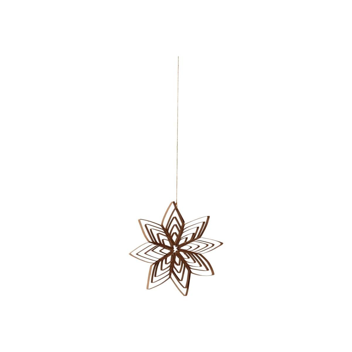 Papírová ozdoba hvězda QUILLING 10 cm přírodní_0