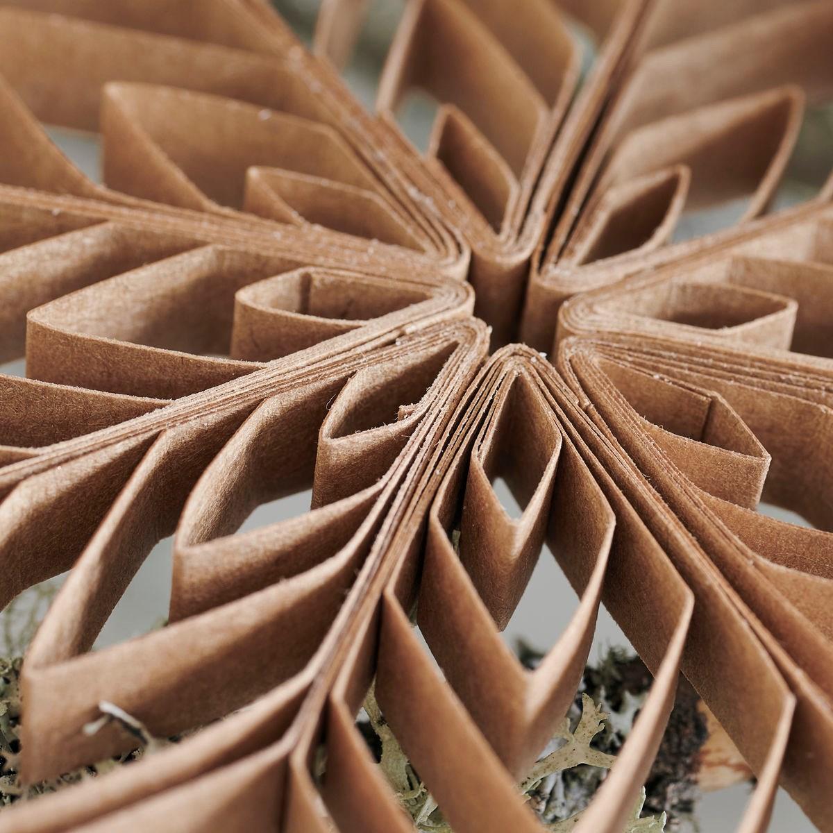 Papírová ozdoba hvězda QUILLING 15 cm přírodní_2