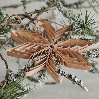 Papírová ozdoba hvězda QUILLING 15 cm přírodní_3