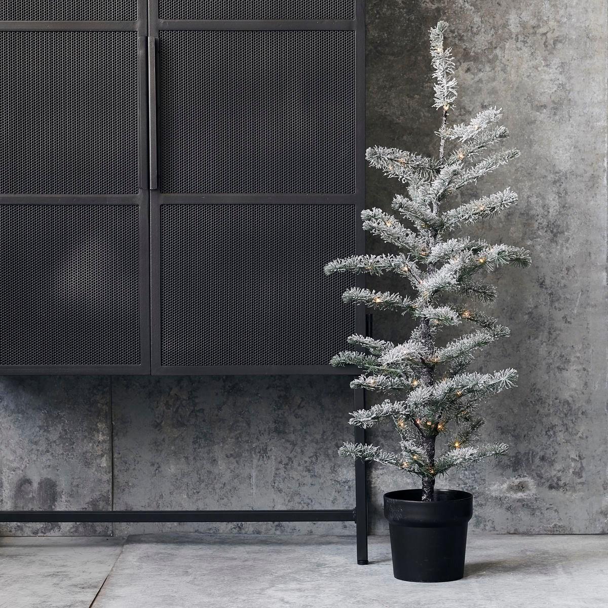 Svítící vánoční strom FLOCKED 70 LED /100 cm zasněžený_1