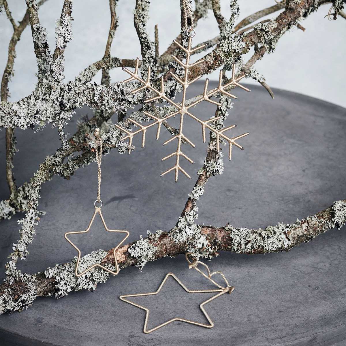 Vánoční dekorace SNOWFLAKE & STARS SET/3ks zlatá_0