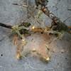 Svítící věnec hvězda z větví STAR 10LED /25 cm zasněžený_0