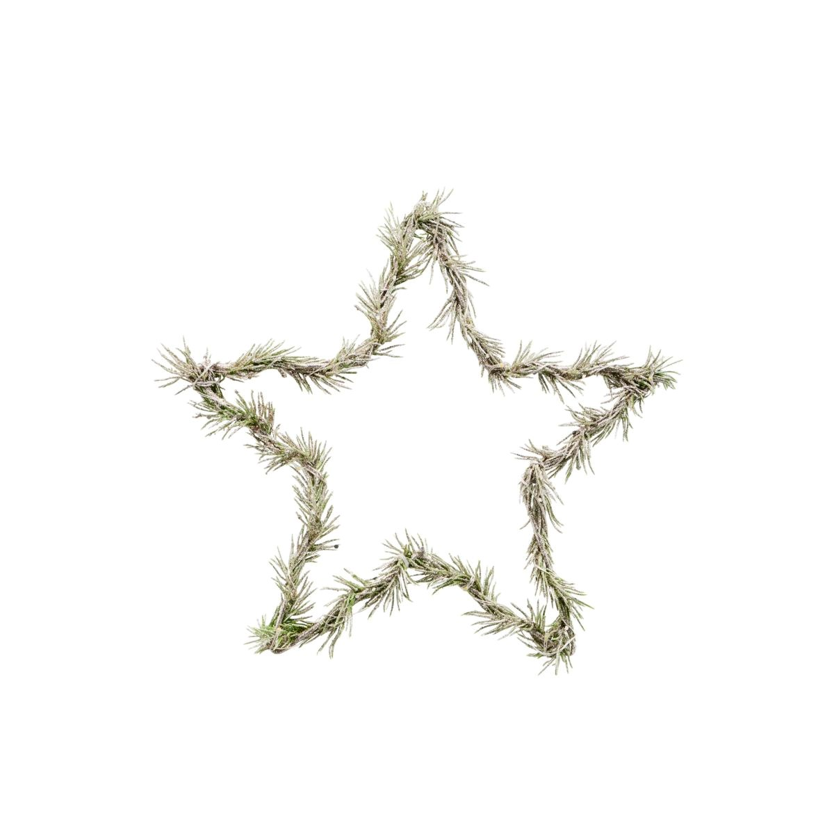 Svítící věnec hvězda z větví STAR 10LED /25 cm zasněžený_2