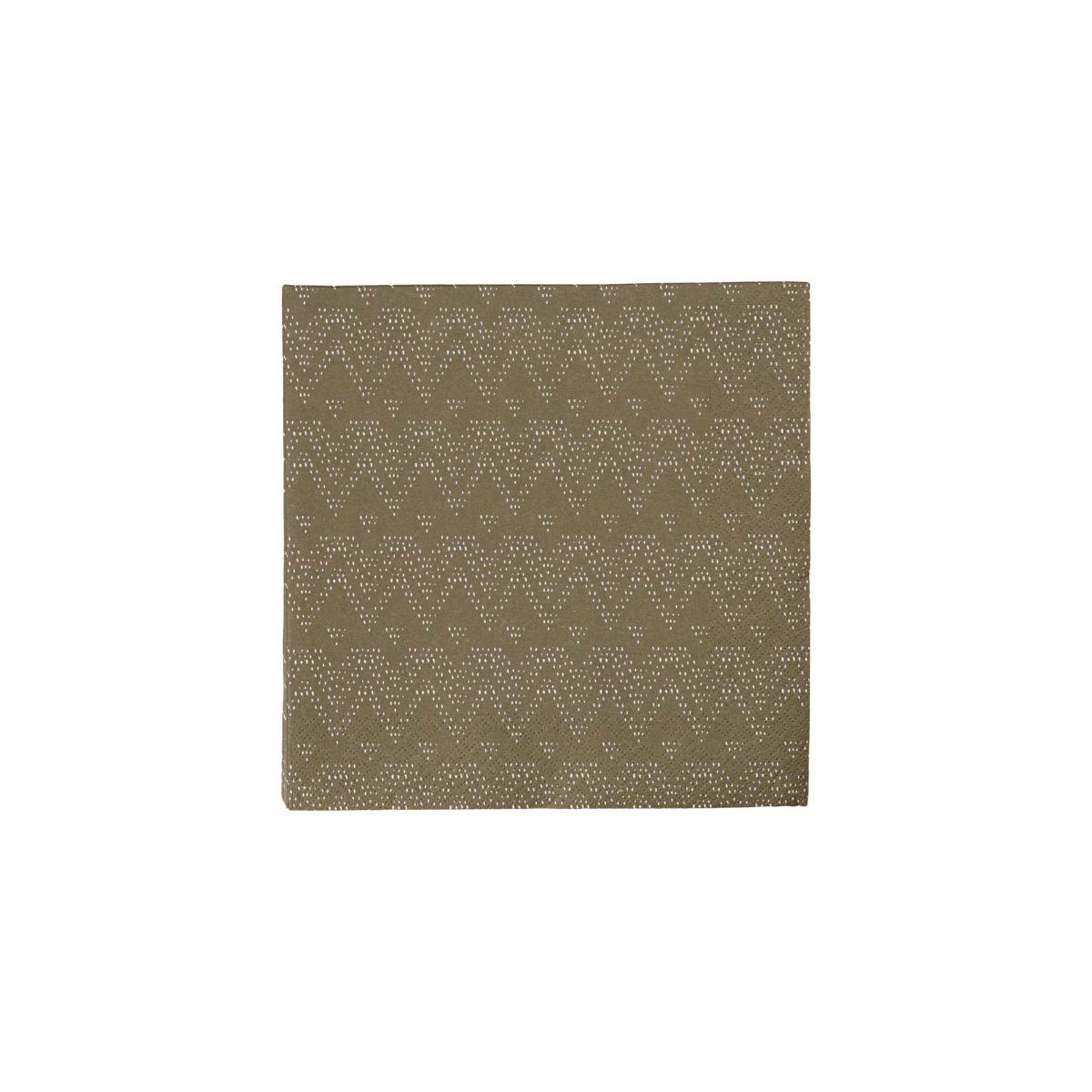 Papírové ubrousky SKI SET/40 ks tmavě zelené_0