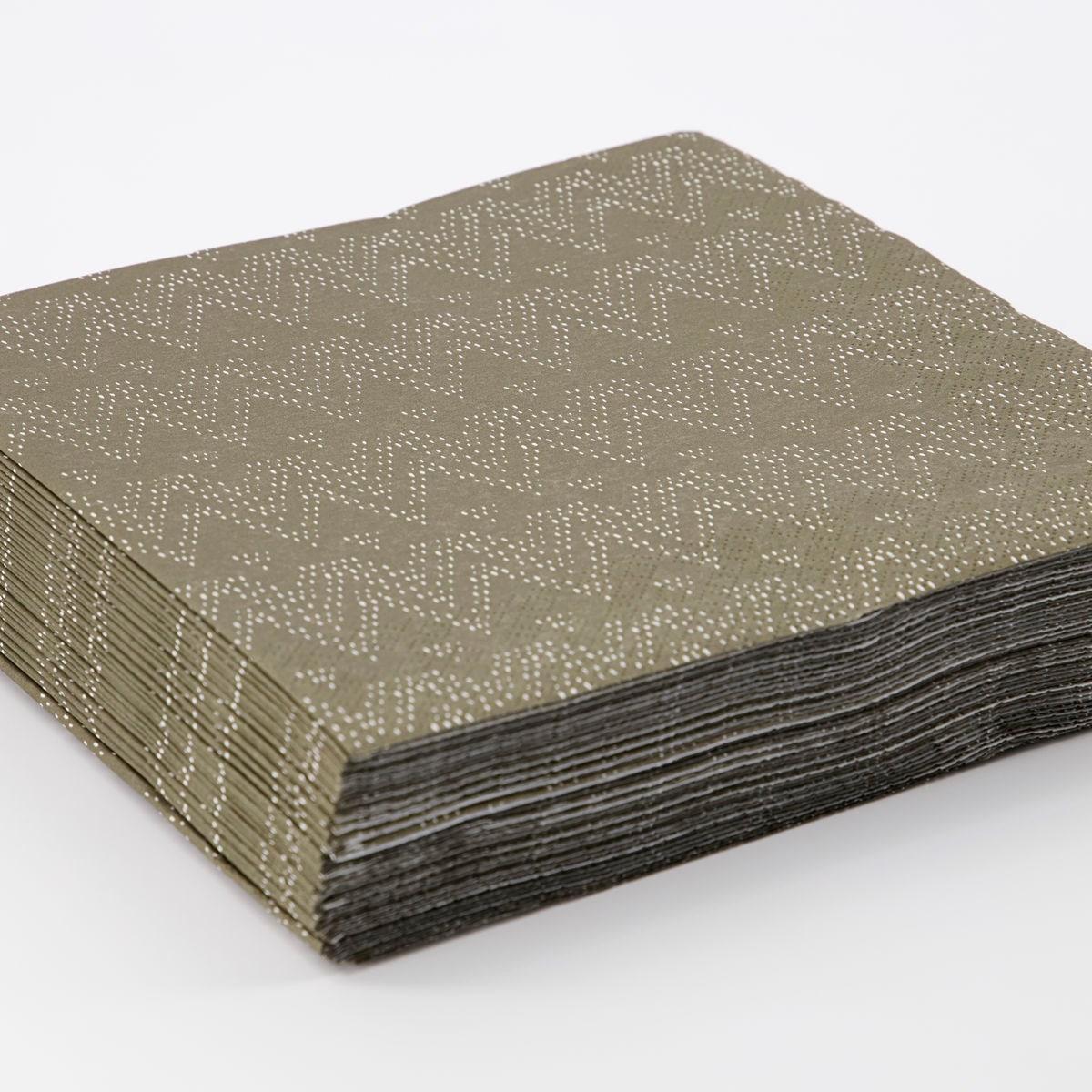 Papírové ubrousky SKI SET/40 ks tmavě zelené_1