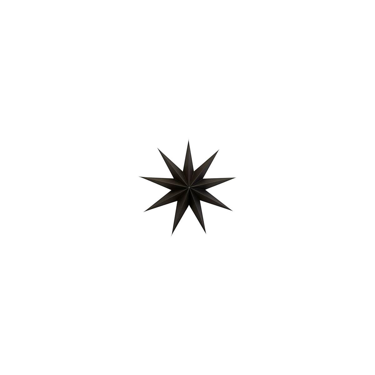 Papírová 9cípá hvězda STAR BROWN 45 cm hnědočerná_0
