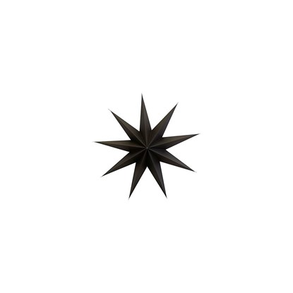 Papírová 9cípá hvězda STAR BROWN 60 cm hnědočerná_0