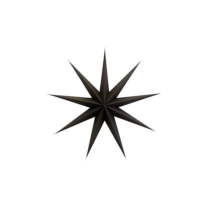 Papírová 9cípá hvězda STAR BROWN 87 cm hnědočerná_0