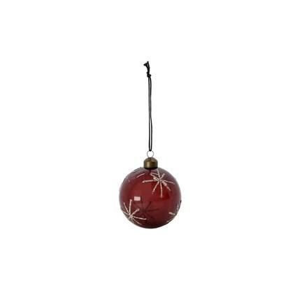 Vánoční ozdoba STAR Burgundy 8 cm koule bordó_3