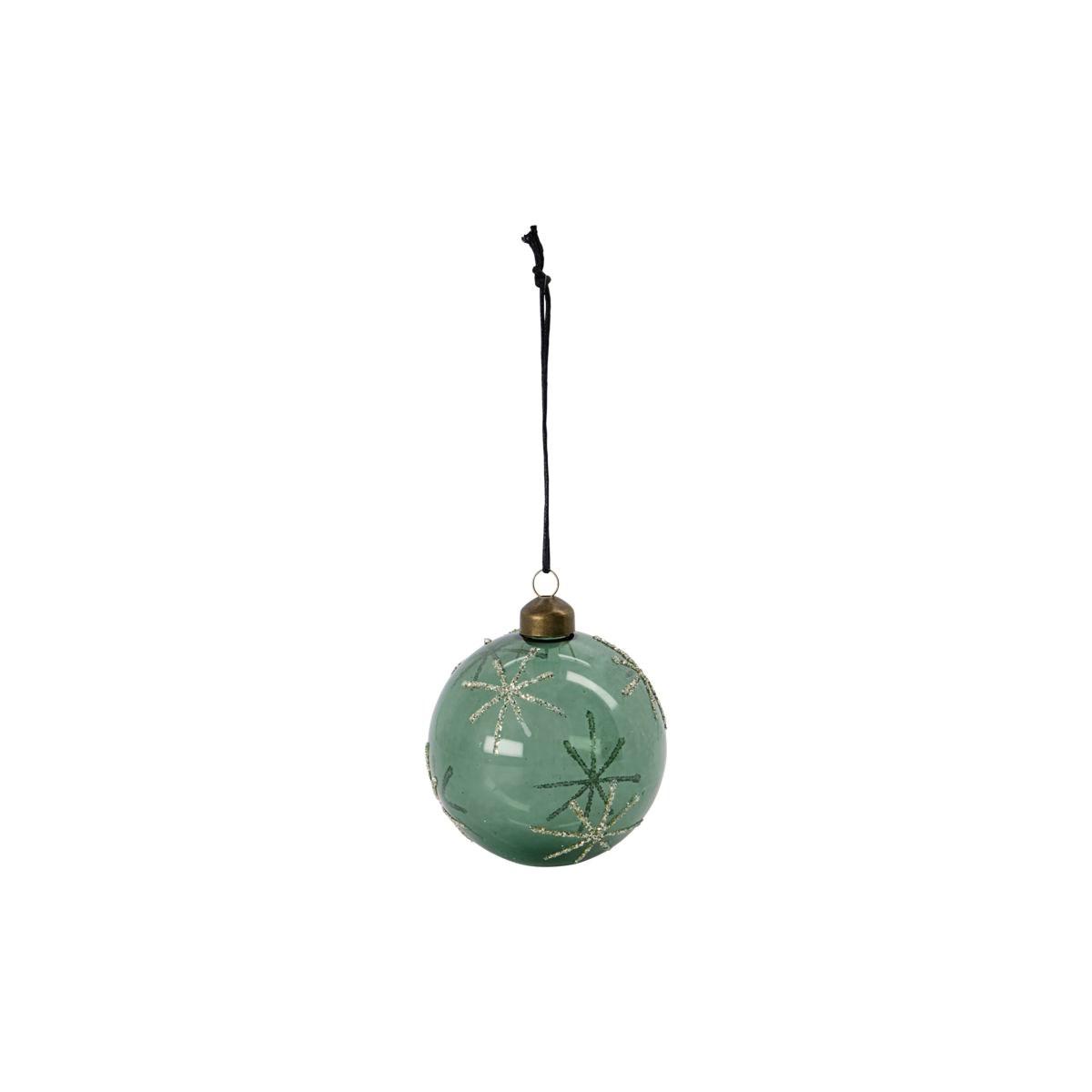 Vánoční ozdoba STAR Green 8 cm koule zelená_0