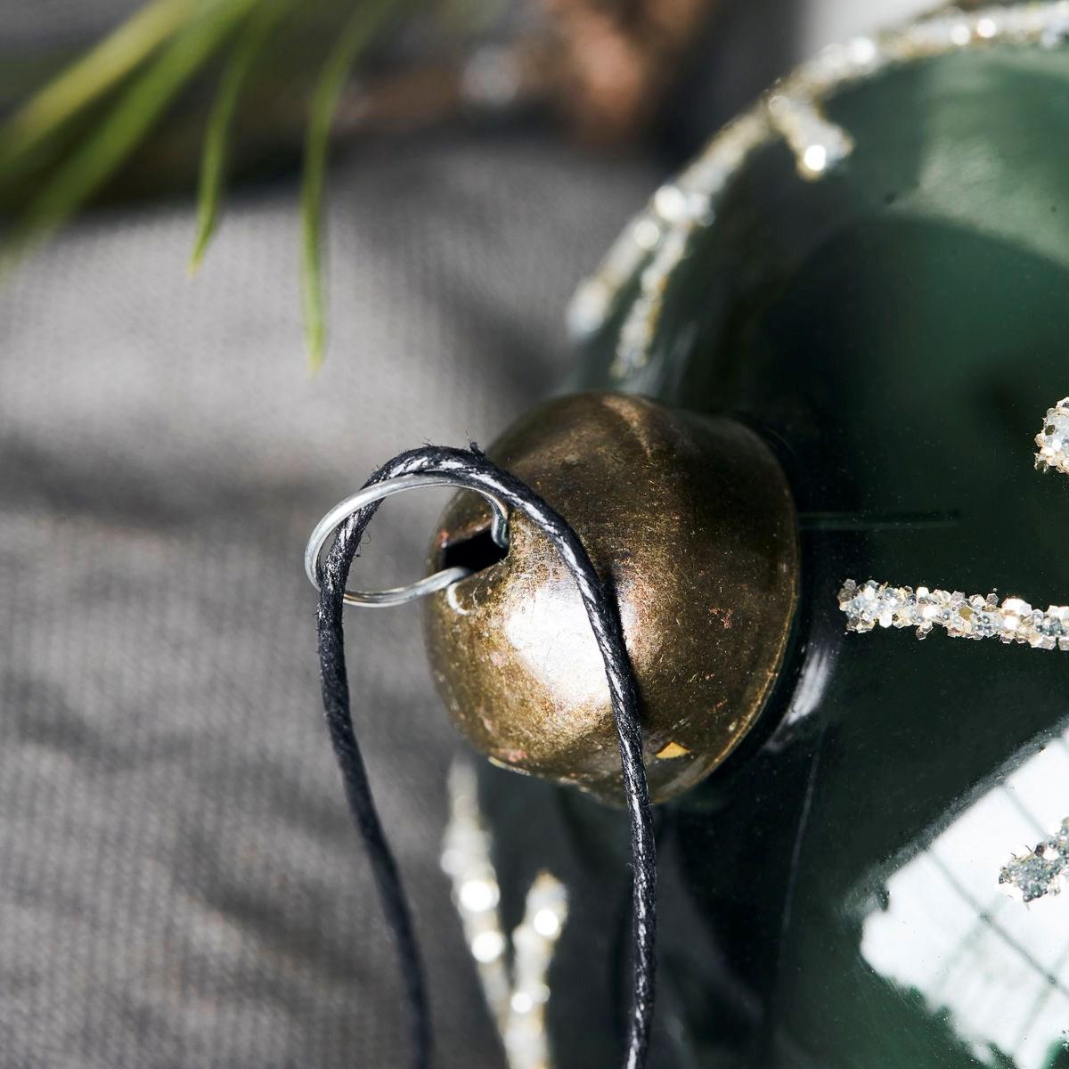Vánoční ozdoba STAR Green 8 cm koule zelená_2