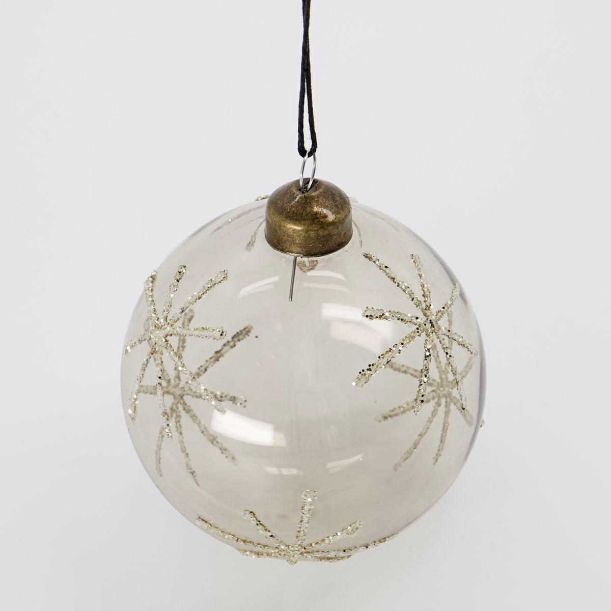 Vánoční ozdoba STAR Clear 8 cm koule čirá_1